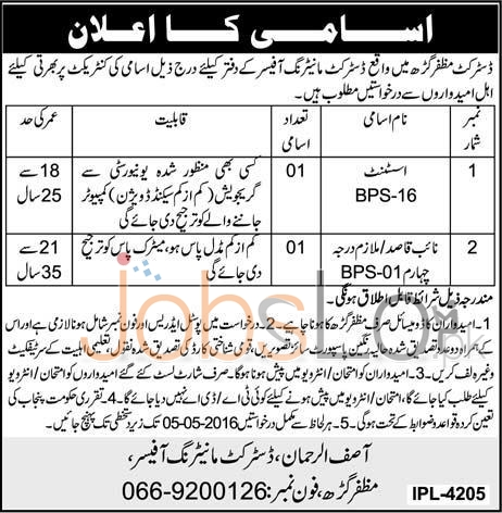 District Monitoring Officers Jobs