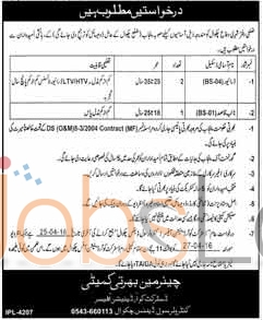 District Office Civil Defence Chakwal Jobs April 2016 For Driver BS-04 Latest Add