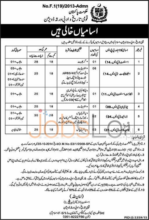 Ministry Of Information Islamabad Jobs