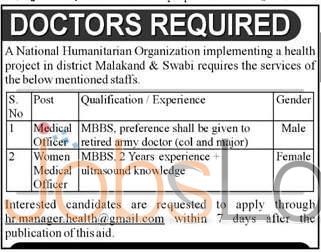 National Humanitarian Organization Malakand & Swabi Jobs 2016 Apply Online