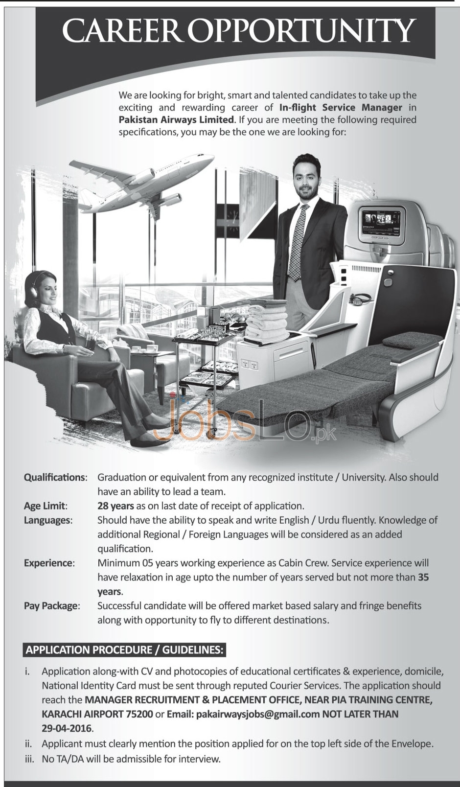 Pakistan Airways Ltd Jobs