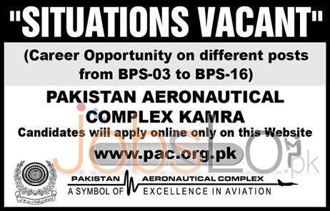 Pakistan Aeronautical Complex (PAC) Kamra Jobs April 2016 Apply Online Latest Add