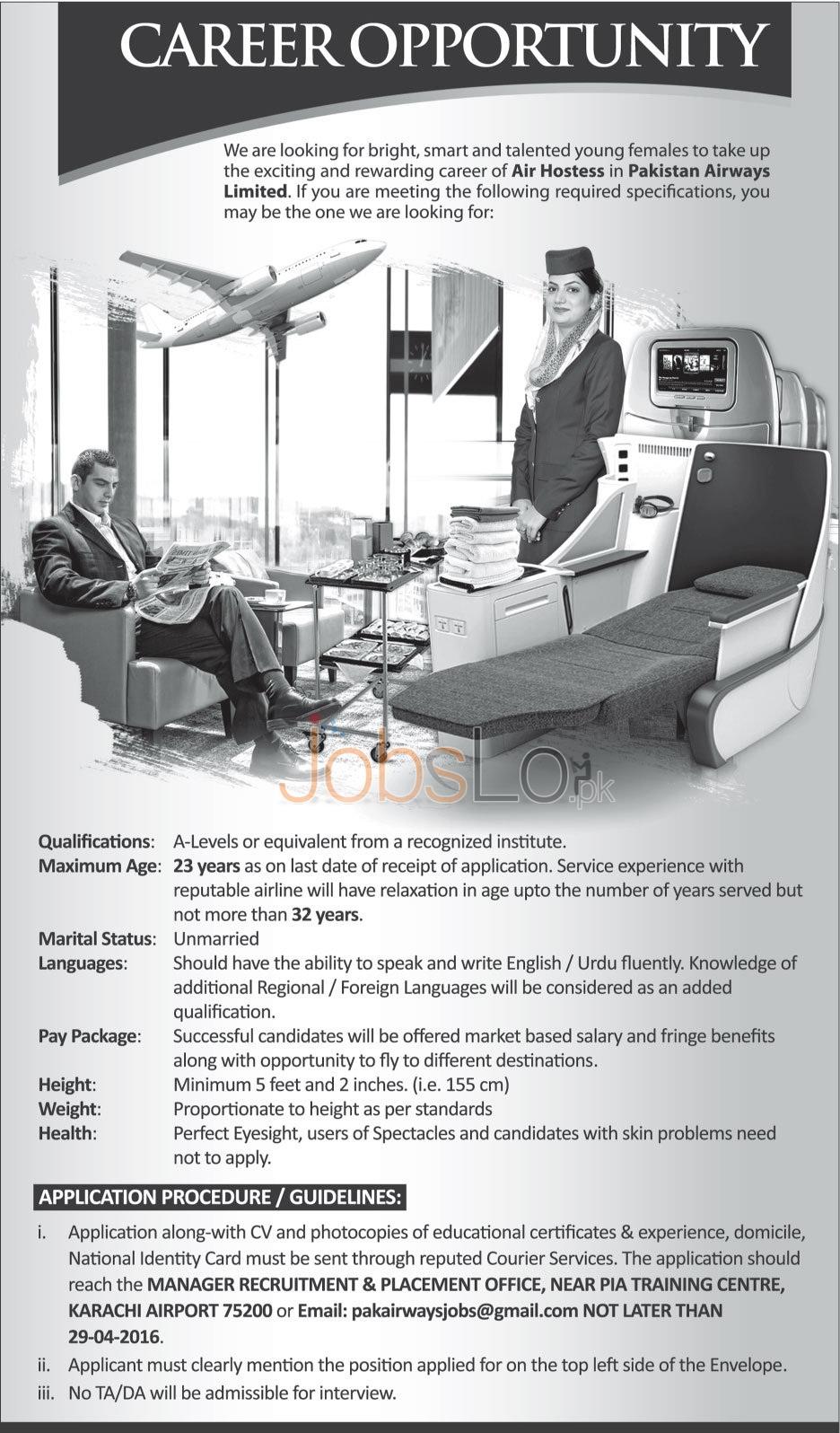 Pakistan Airways Jobs