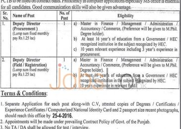 Punjab Curriculum & Textbook Board Lahore Jobs April 2016 For Deputy Director Career Offers