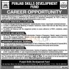 Punjab Skills Development Fund Lahore Jobs 2016 For Asstt Monitoring & Evaluation Latest