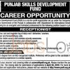Punjab Skills Development Fund Lahore Jobs April 2016 For Receptionist