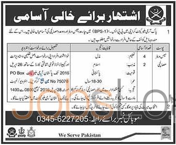 Pakistan Army Malir Cantt Karachi Jobs April 2016 Test & Interview Schedule Latest