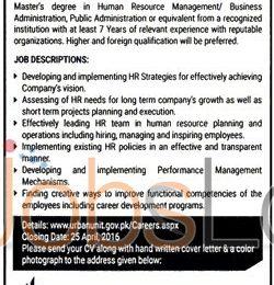 The Urban Unit Lahore Jobs April 2016 Latest Advertisement