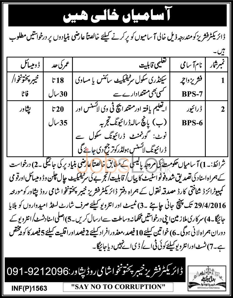 Director Fisheries Jobs