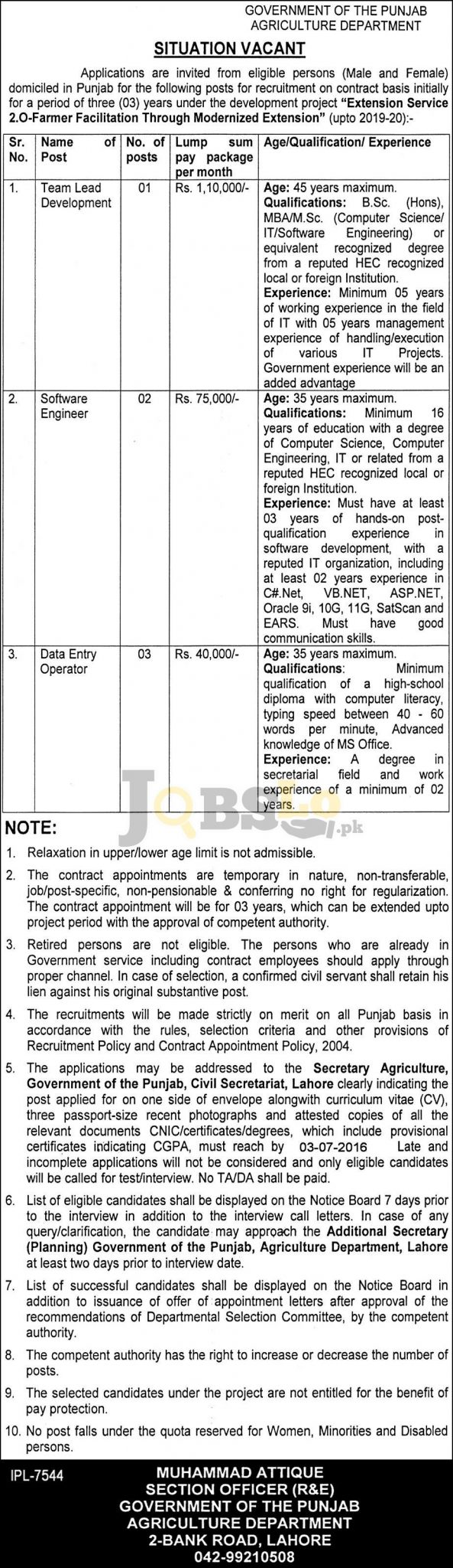 Agriculture Department Jobs