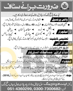 Cadet College Jobs 2016 in Fateh Jhang For Vice Principal Lecturer Latest Add