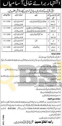 Anti Corruption Court Jobs 2016 in Gujranwala NTS Application Form Download Online