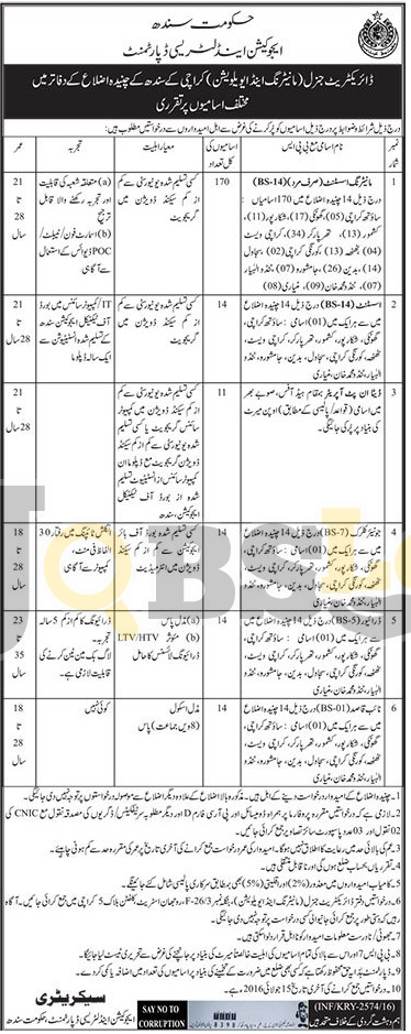 Education & Litereacy Department Jobs