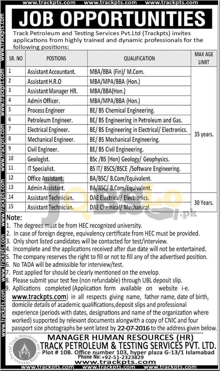 Track Petroleum Service Jobs