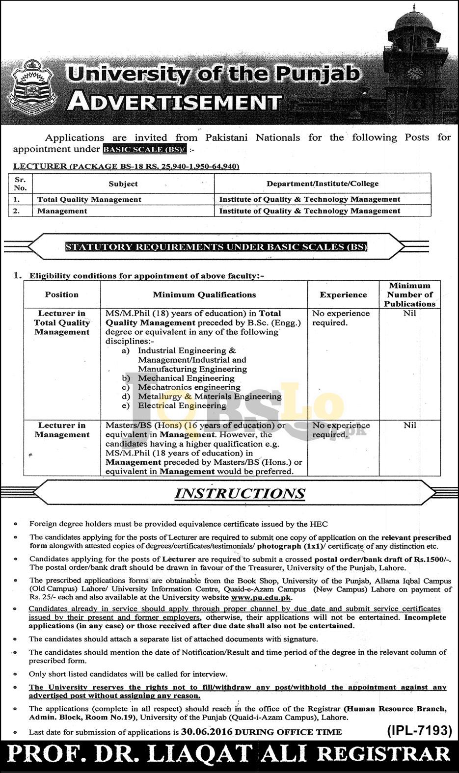 University-of-the-Punjab-Jobs