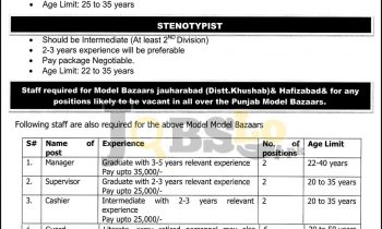 PMBMC Jobs 2016 Punjab Model Bazar Current Employment Opportunities