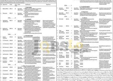 Balochistan Institute of Nephrology-Urology Quetta BINUQ Jobs 2016 BTS Form www.bts.org.pk
