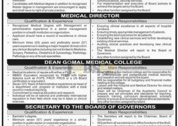 MTI Medical Teaching Institute Jobs 2016 DI Khan Latest Employment Offers