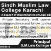 Sindh Muslim Law College Karachi Jobs 2016 Current Vacancies