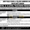 Army Public School & College Cambridge Campus Karachi Jobs 2016 For Teachers Latest