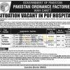 Pakistan Ordnance Factories Wah Cantt Jobs 02 August 2016 Govt of Pakistan