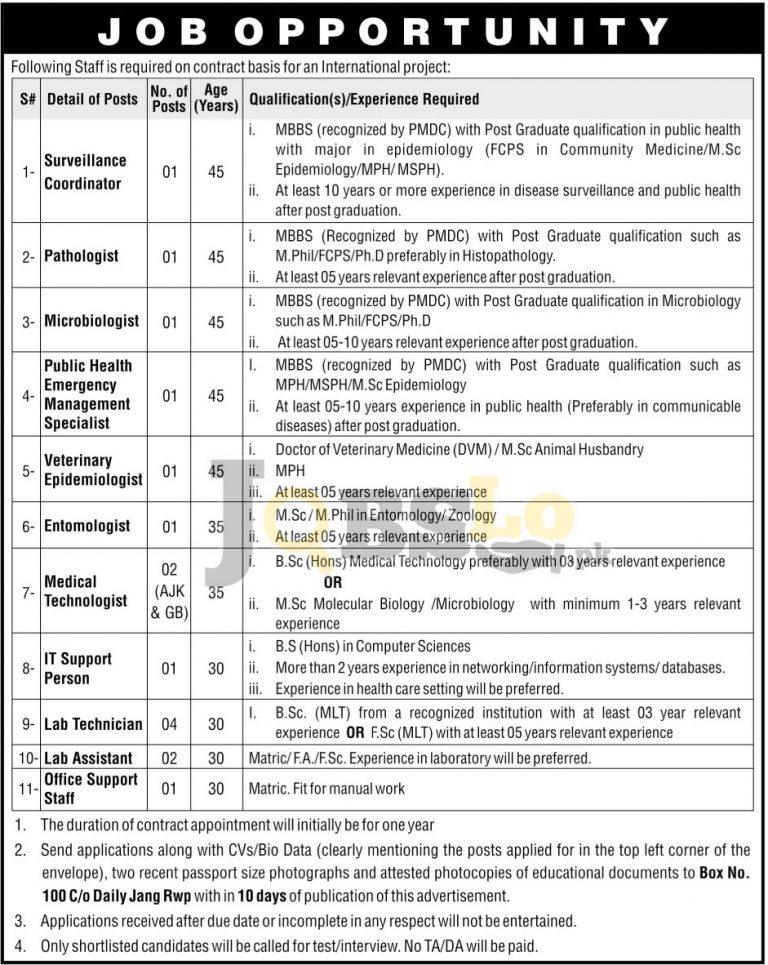 International Project Rawalpindi Jobs August 2016 Career Opportunities