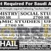 Subject Teacher Jobs August 2016 in Saudi Arabia Latest Add