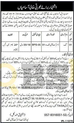 District Jail Attock Jobs