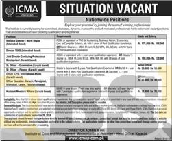 ICMA Jobs 2016 Online Form Download icmap.com.pk