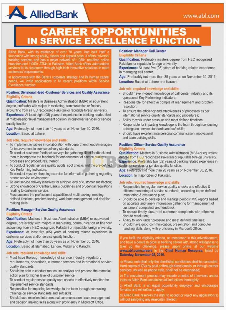 Allied Bank Limited Jobs 2016 Apply Online ww.abl.com