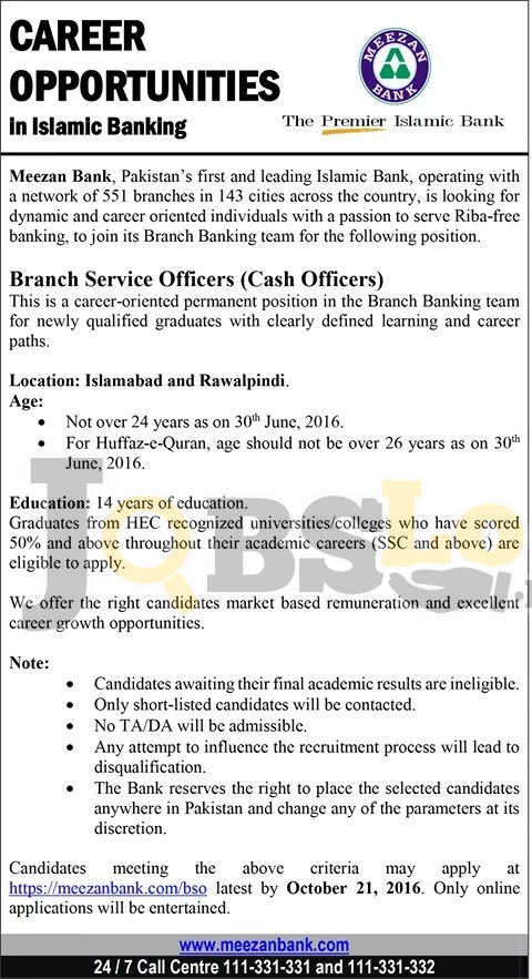 Meezan Bank Jobs