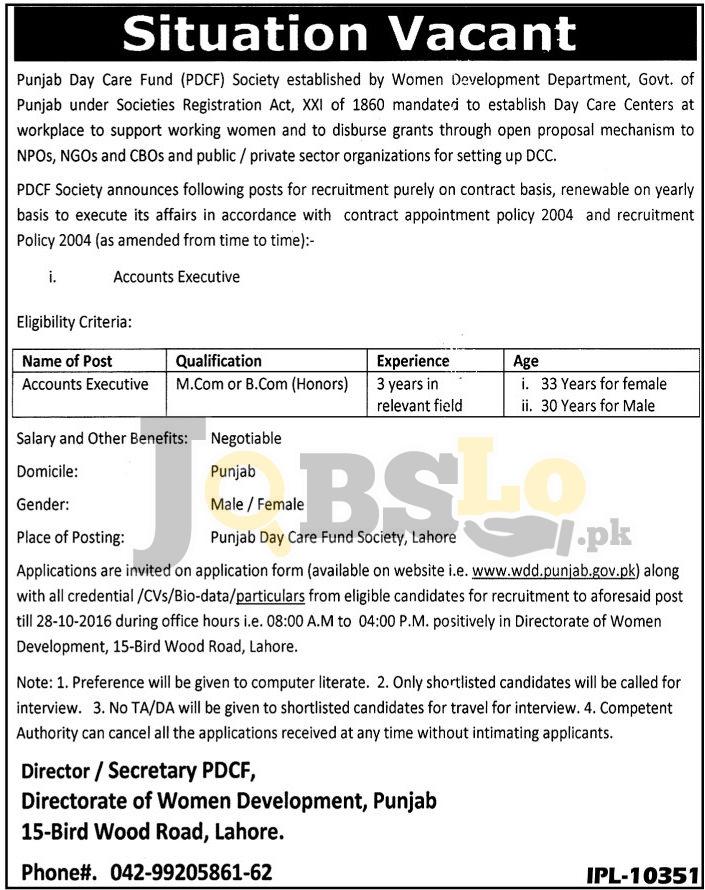 PDCF Society Jobs