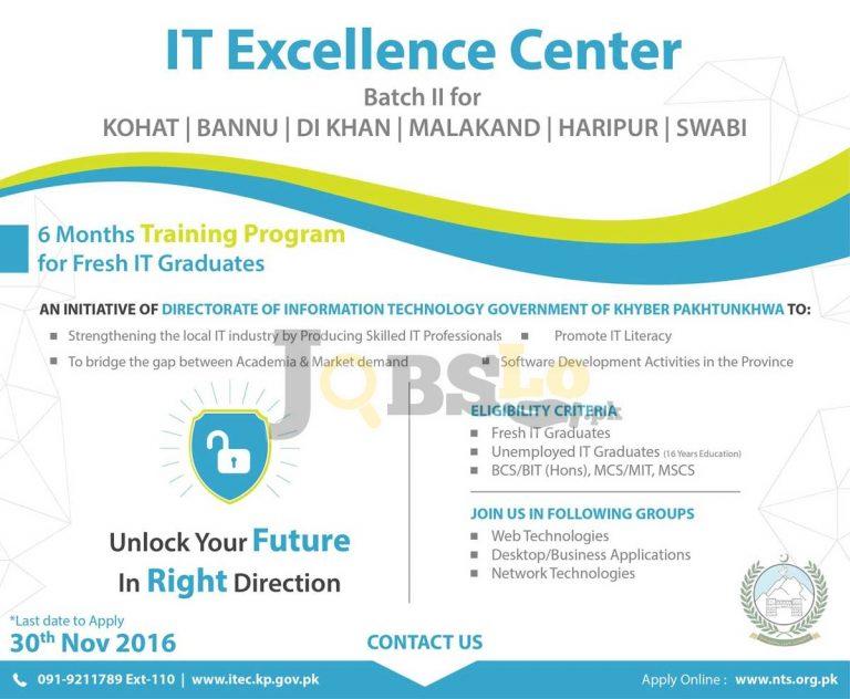 Directorate of Information Technology KPK Internship Program 2016 NTS Online Registration