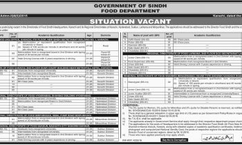 Food Department Sindh Jobs 2016 For Food Grain Inspector Eligibility Criteria