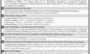Liaquat National Hospital & Medical College Karachi Jobs 2016 Staff Required Latest Add