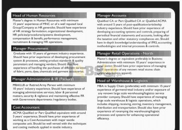 Bonanza Jobs 2016 For Cost Account Latest Career Opportunities