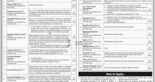 SZAB University of Law Karachi Jobs