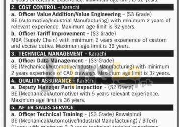 Pak Suzuki Motors Karachi & Rawalpindi Jobs 2017 Latest Career Offers