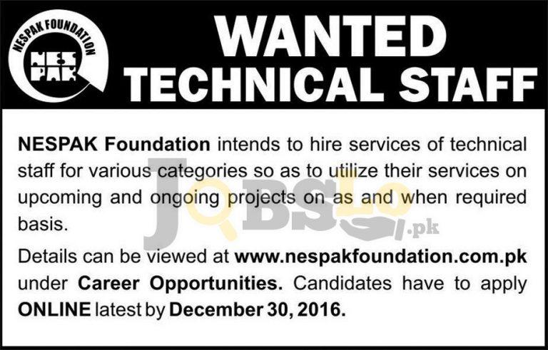 NESPAK Foundation Jobs 2017 Application Form Apply Online