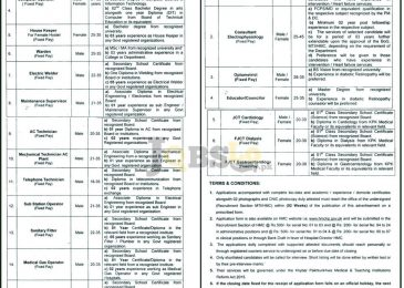 Hayatabad Medical Complex Peshawar Jobs 2016-2017 Application Form Download
