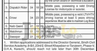 Sindh Civil Services Academy Karachi Jobs