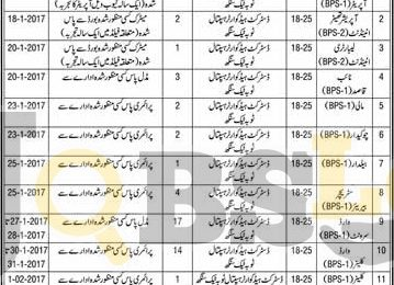 District Headquarter Hospital DHQ Toba Tek Singh Jobs 2017 For Male & Female