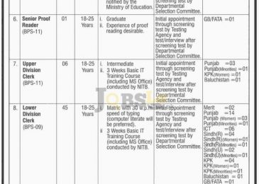 Law & Justice Division Pakistan Jobs 2016 NTS Form & Test Schedule nts.org.pk