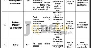 Planning & Deveopment Dpt Gilgit Baltistan Jobs