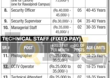 National College of Arts Jobs 2017 Lahore & Rawalpindi Online Form nca.edu.pk