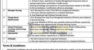 LRH Peshawar Jobs