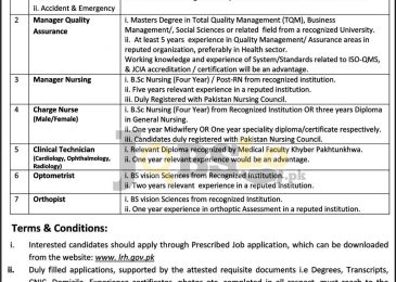 Lady Reading Hospital Peshawar Jobs 2017 Application Form Download lrh.gov.pk