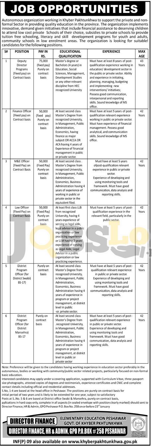 EEF Peshawar Jobs