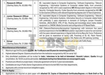 Public Sector Organization Islamabad Jobs 2017 February Advertisement