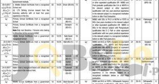 Health Department Lahore Jobs